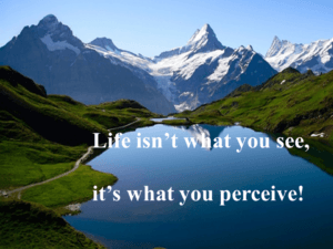 Life isn't what you see, it's what you perceive!